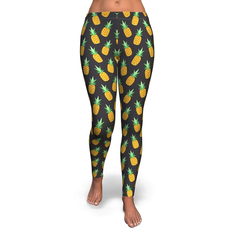 Foxs Tees Black Pineapple Leggings for Women