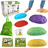 Hapinest Turtle Steps Balance Stepping Stones Obstacle Course Coordination Game for Kids and Family - Indoor or Outdoor Senso