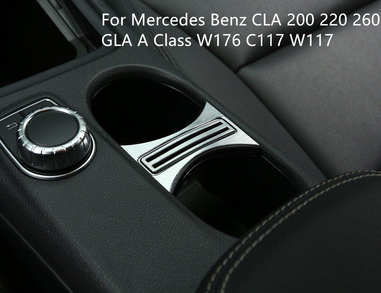 C117 260 GLA classe A W117 W176 in lega di alluminio 220 per CLA 200 Copertura per portabicchieri auto