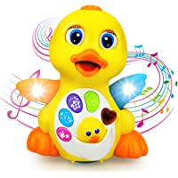 BestFire Baby Toys Musical Dancing and Singing Duck Toy (Yellow)