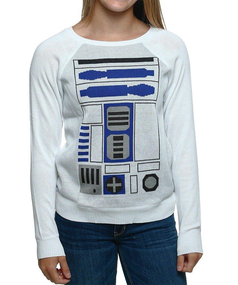 Star Wars R2-D2 Artoo Simple Sweater (Medium, White)