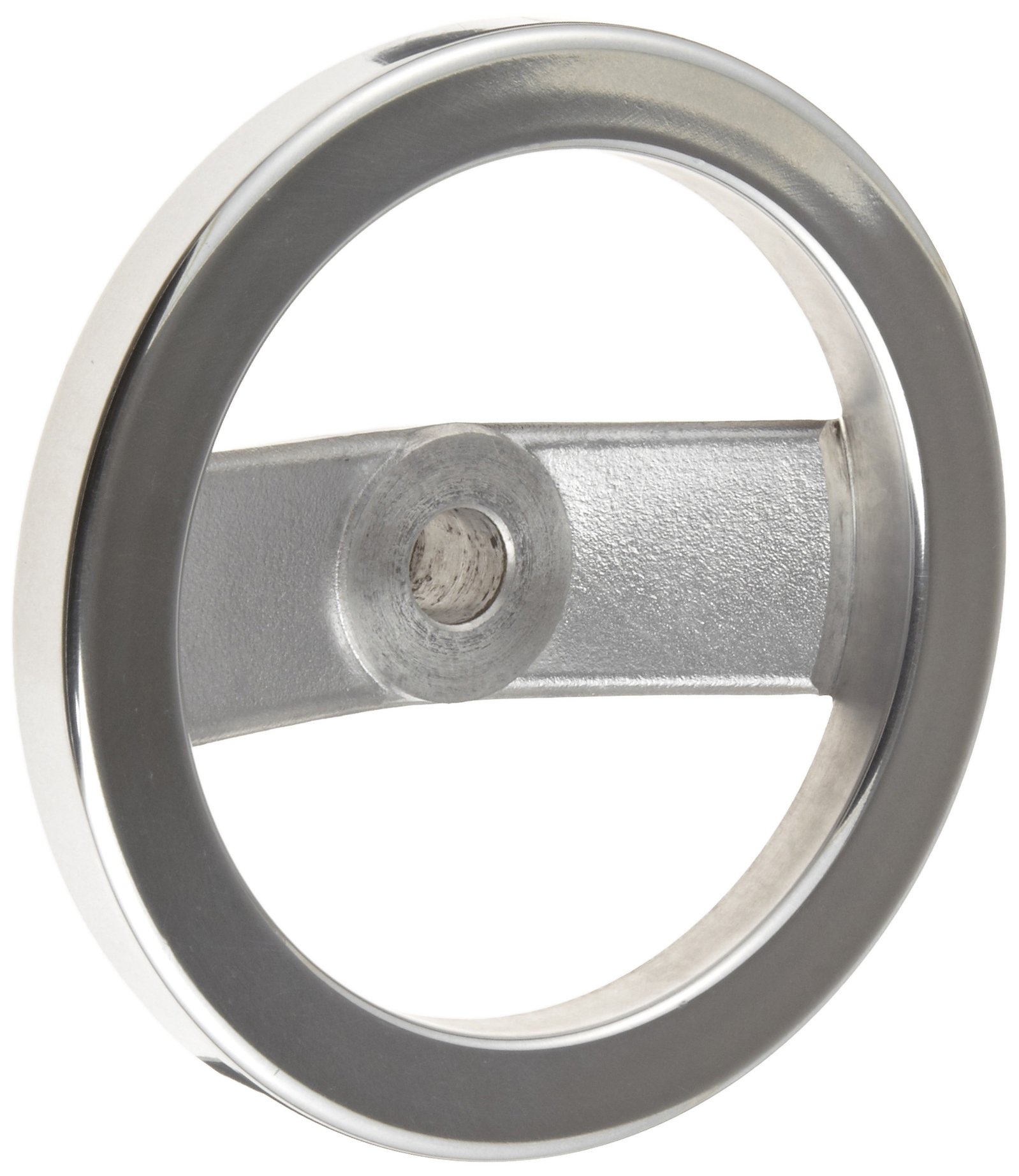 2 Spoked Polished Aluminum Dished Hand Wheel without Handle, 6'' Diameter, 5/8'' Hole Diameter, (Pack of 1)