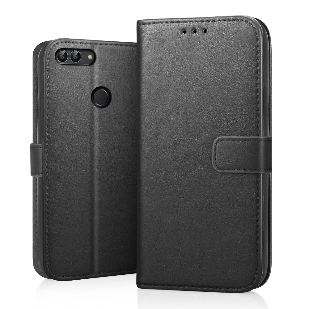 328aa60b4ca5 RIFFUE Huawei P Smart Case, Premium Thin Fit Vintage PU Leather Folio Flip  Wallet Cover