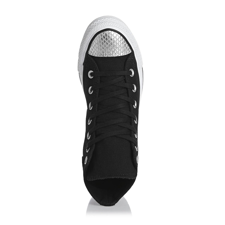 Converse Damen CTAS (schwarz/Silver/schwarz) Hi Sneakers Schwarz (schwarz/Silver/schwarz) CTAS 471226