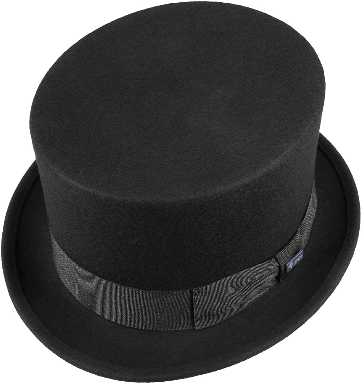 Wool Felt hat Size S M L XL Made in Italy Lipodo Ladies and Men Black Felt top hat - Wedding hat with Grosgrain Ribbon Summer//Winter hat Approx. 54-61 cm
