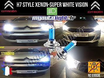 Bombillas H7 blanco Look Xenón Citroën C4 Cactus.: Amazon.es: Coche y moto