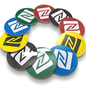 10 X Nfc Tags Nxp Chip Ntag215 504 Bytes Speicherkapazität Runde Aufkleber Und Gemischte Farben Hartes Pvc Und Starker 3m Aufkleber Hohe