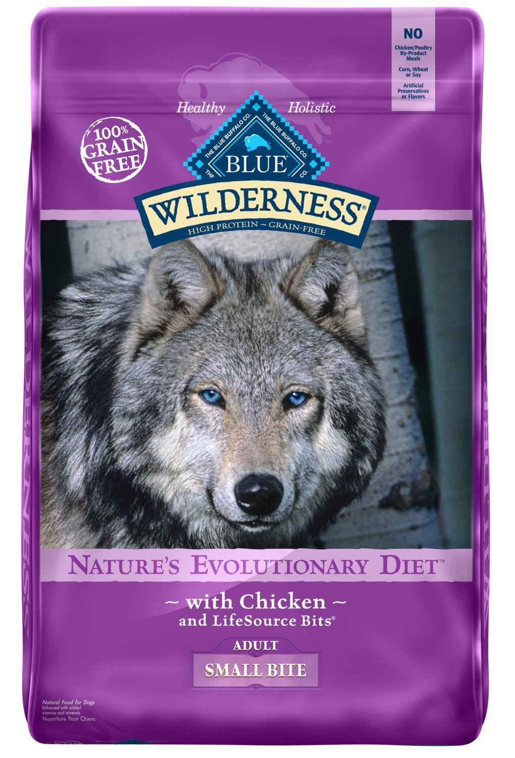 Blue Buffalo Wilderness High Protein Grain Free, Natural Adult Small-Bite Dry Dog Food, Chicken 24-lb by Blue Buffalo