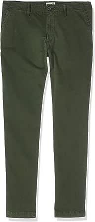 بنطال تشينو سارجنت ليك للرجال من TIMBERLAND مصنوع من الساتان شديد المرونة باللون الأخضر (حقيبة من القماش المطاطي)، المقاس: 40