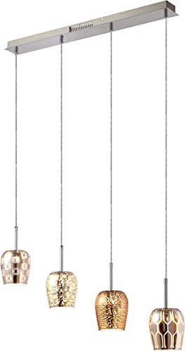 Maxax Industrial Pendant Lighting 3D Clear Glass Shade Hanging Light Fixture