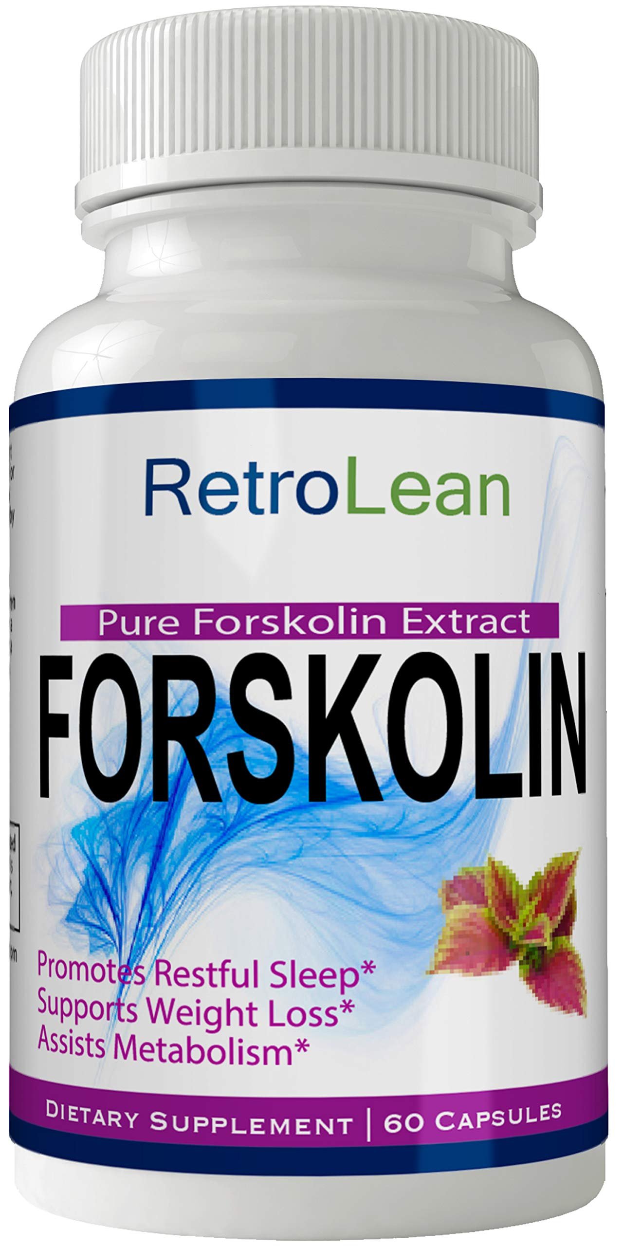 Retro Lean Forskolin for Weight Loss Pills Tablets Supplement - Capsules with Natural High Quality Pure Forskolin Extract Diet Pills, Boost Metabolism and Digestive Function by nutra4health LLC (Image #1)