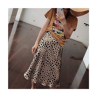 Faldas de Cintura Alta con Estampado de Leopardo de Verano para ...