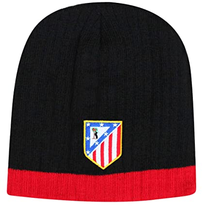c26c53ee Amazon.com : Atletico Madrid Official Crest Soccer Beanie Hat (100 ...