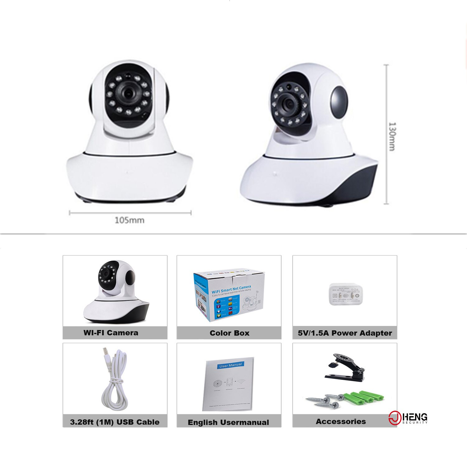 JC Wireless Security Camera,720P HD WIFI IP Camera: Amazon co uk