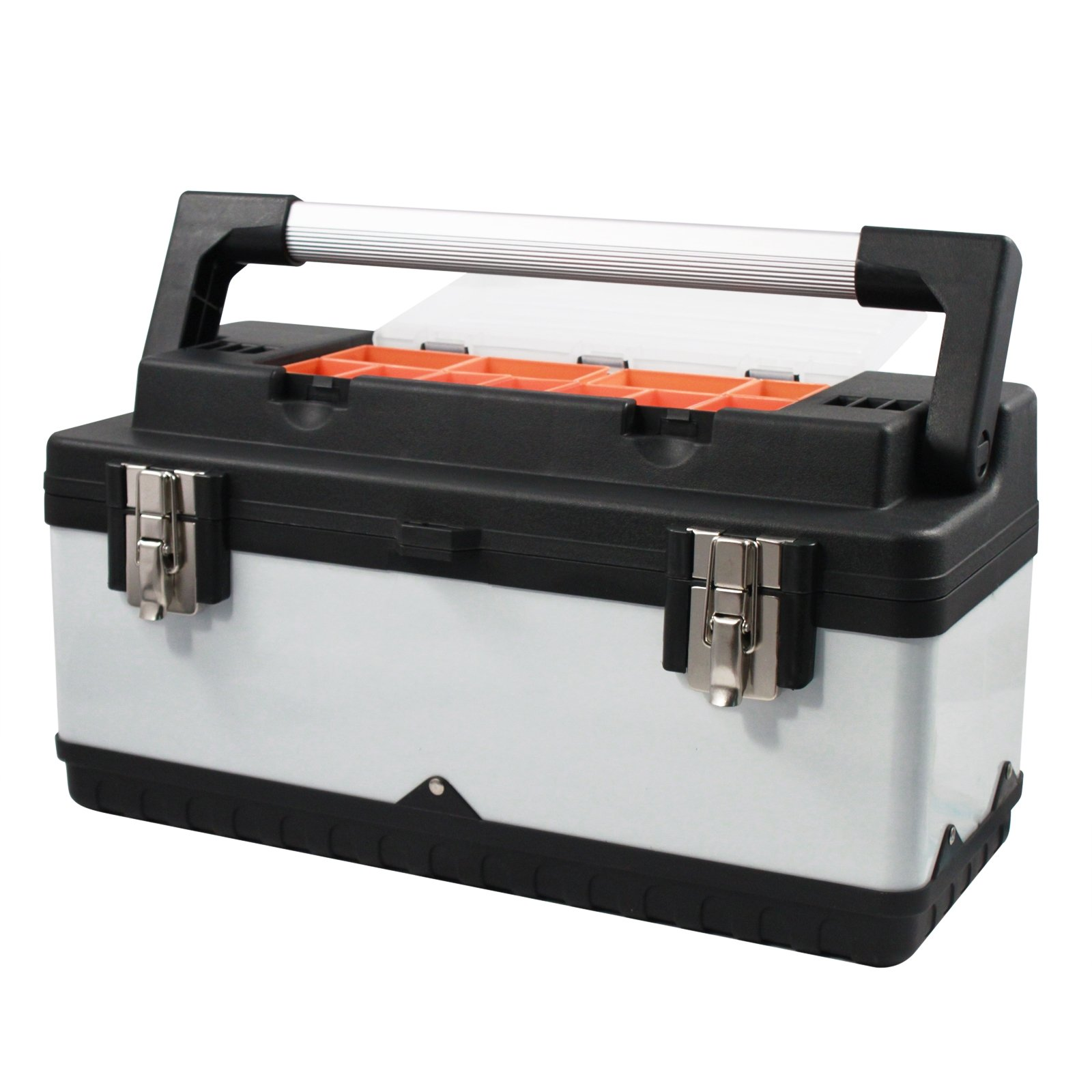 Universal Utility Heavy Duty Tool Box 19'' Lift Out Tray 11 Compartment Storage
