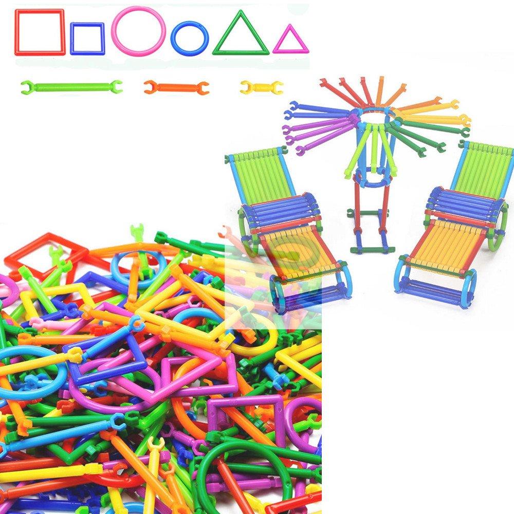 Ouneed® Enfant Jouet de Construir 250 pcs batons colores Chiffres Motifs