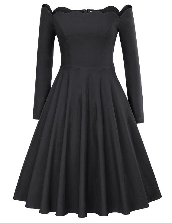 Belle Poque Vestido oscilante de Rockabilly vestido años 50 Una línea de vestidos vintage: Amazon.es: Ropa y accesorios
