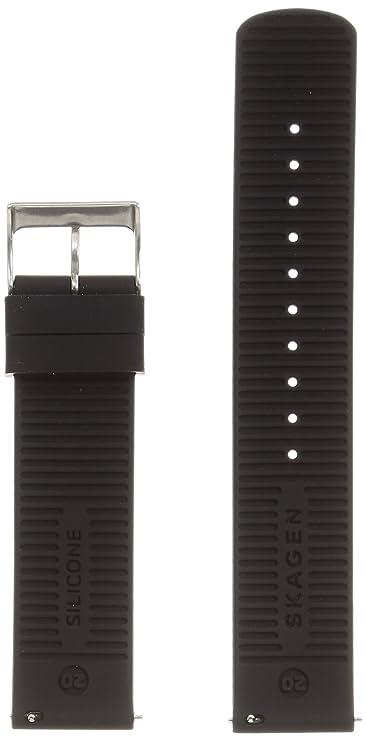 Skagen Men 20mm Nylon Casual Watch Band, Color: Black (Model: SKB6044)