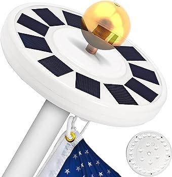 Totobay 30 LED Solar Flagpole