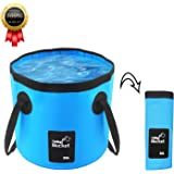 BeeTwo Portable Collapsible Bucket Compact 20L Outdoor Wash Basin Foldable Water Bucket Containe for Travelling Camping Hiking Fishing Washing