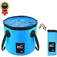 BeeTwo Portable Collapsible Bucket Compact 20L Outdoor Wash Basin Foldable Water Bucket Containe for Travelling Camping…