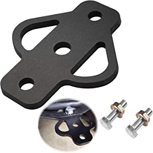 3-Way Trailer Hitch Adapter Receiver Hitch for Lawn Mower Three Way ATV Hitch Attachments for Golf Cart Garden Tractor Flat Towing Tow Ball Mount Lawn Mower Chain and Tow Strap (1)