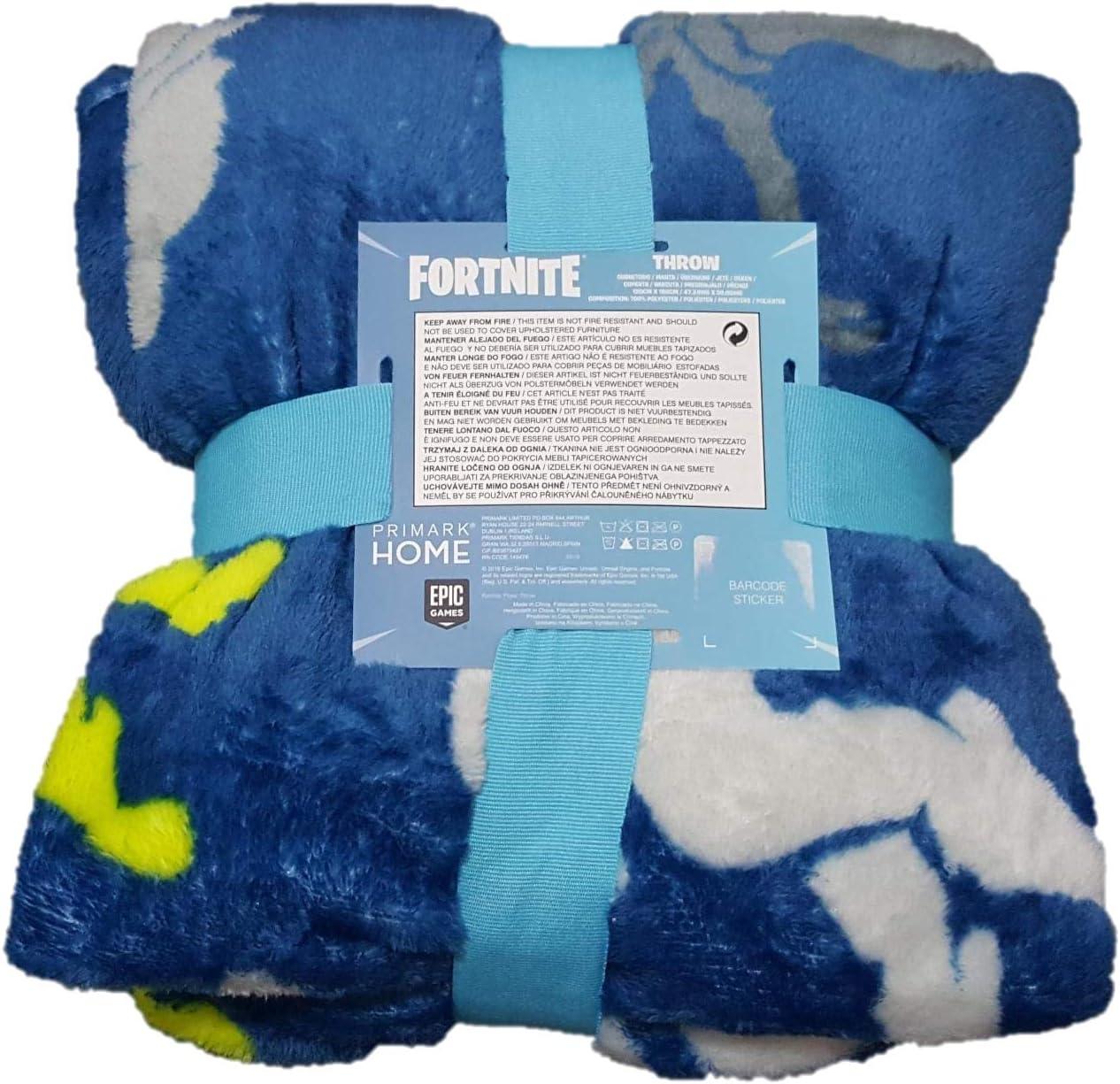 Fortnite Primark Couverture de lit Ultra-Douce pour Enfant Motif Llama