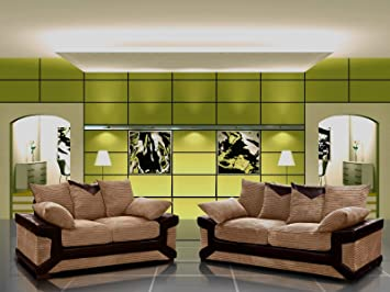 Sensational Designer Dino 3 2 Sofa Set In Grey Brown Brown Amazon Pdpeps Interior Chair Design Pdpepsorg