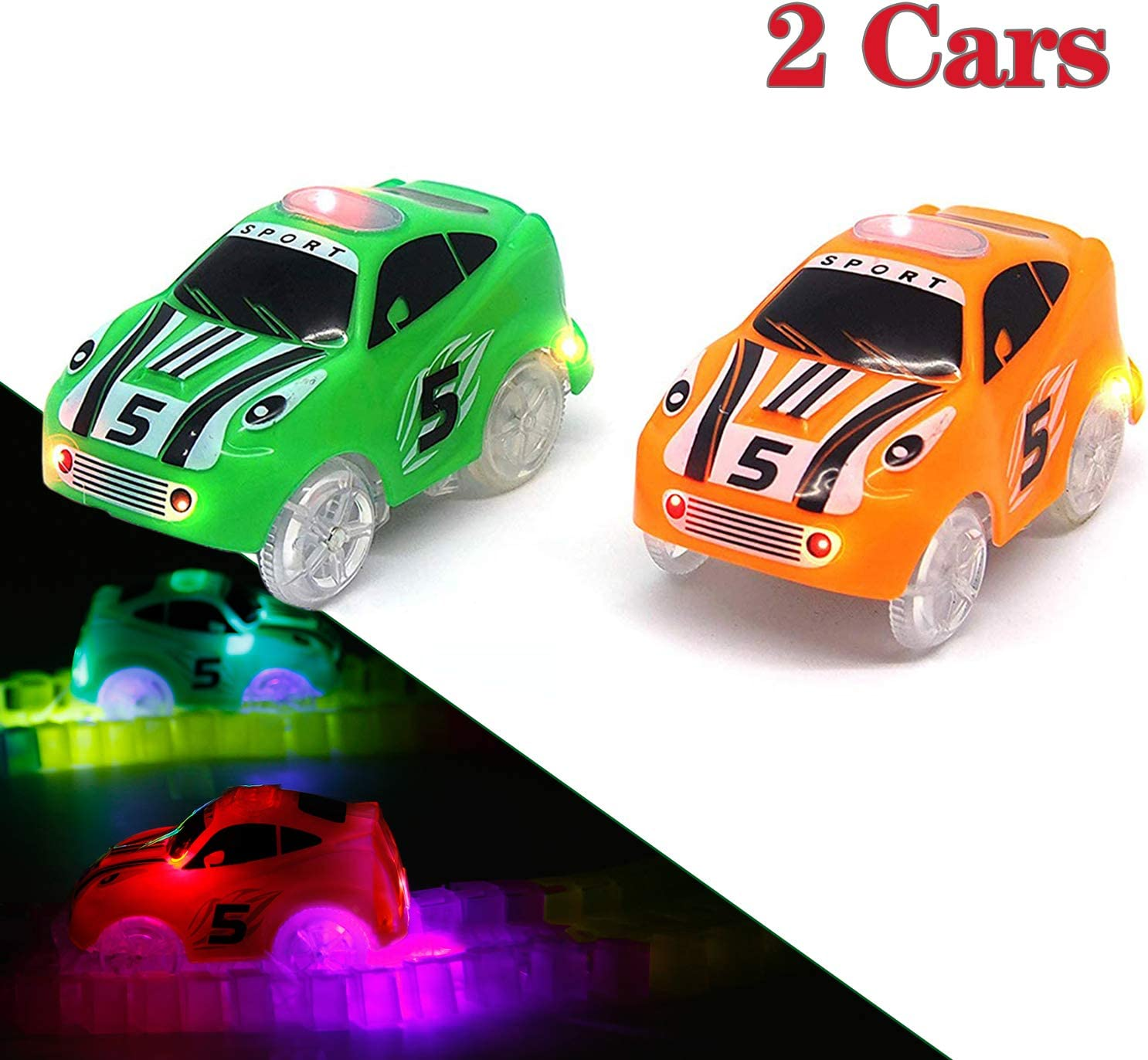 3 Pack Track Cars Compatible with Magic Tracks and Neo Tracks Replacement L M6L4