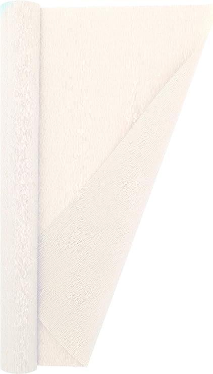 600 Bright White Premium Italian Crepe Paper Roll Heavy-Weight 180 gram