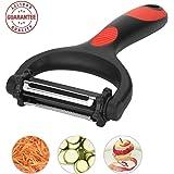 3 in 1 Peeler with 3 Rotatable Extra Sharp Blades, Fruit & Vegetable Julienne Y Peeler, Swivel Kitchen Peeler