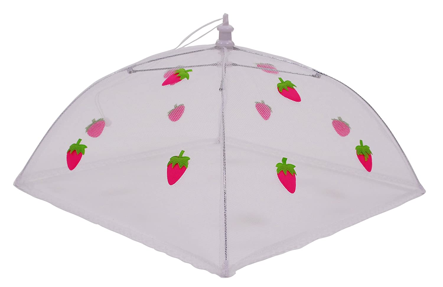 Epicurean 39JN1154ST Polyester with Zinc Plated Steel Frame Food Cover Umbrella, 48 x 48 cm, White/Pink/ Green Epicurean Ltd