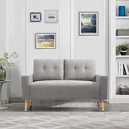 GUNJI Soft Fabric Loveseat Sofa Loveseat Couch 2-Seat Sofa