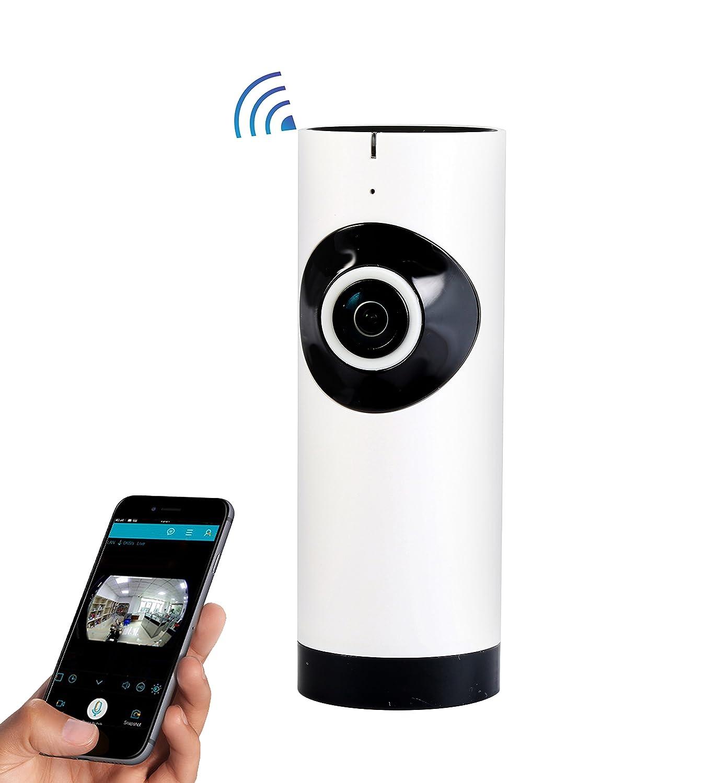 accfly 185 grados de ángulo de muy amplio Wireless HD Wifi Dvr Video Monitor de levas Casa supervisión de la cámara con la visión nocturna: Amazon.es: ...