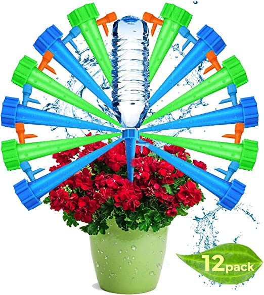 LOVEXIU - Kit de riego automático, 12 Unidades, riego por Goteo para jardín, riego por Goteo, Sistema de riego automático, Cono de riego para huerto, macetas de jardín: Amazon.es: Jardín