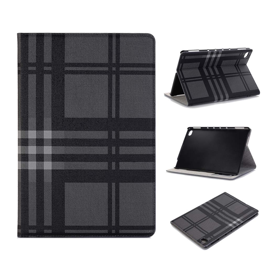 MediaPad M5 Lite Stand Case 10.1'', TechCode Lightweight Luxury PU Leather Book Style Folio Case Stand with Card Slots Magnetic Smart Protective Cover for Huawei MediaPad M5 Lite 10.1Tablet(Grey)