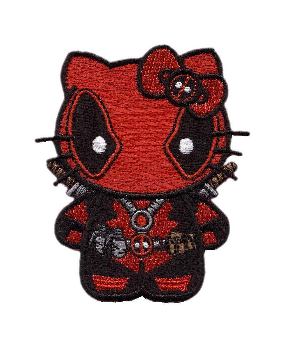 Hook Fastener Hello Deadpool Kitty Morale Gear Tactical Patch Cap Backpack Applique Patch by Titan One Europe