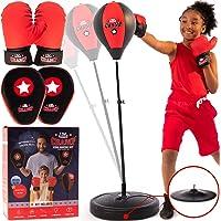 7 en 1 Saco de Boxeo de Pie Entrenamiento Vac/ío Boxeo Gancho Kick Sandbag Lucha Karate Artes Marciales Punch Sand Bag Guantes con Cadenas SolUptanisu Sacos de Suelo Saco de Boxeo 0.6m-Verde