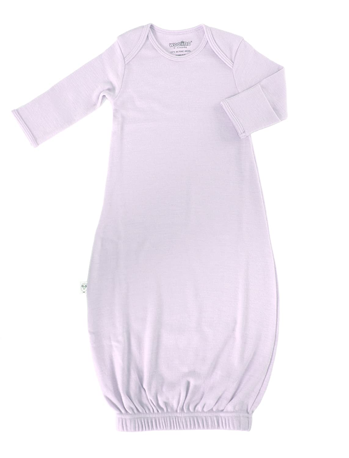 Woolino Baby Infant Gown Superfine Merino Wool 0-6 Months Lilac