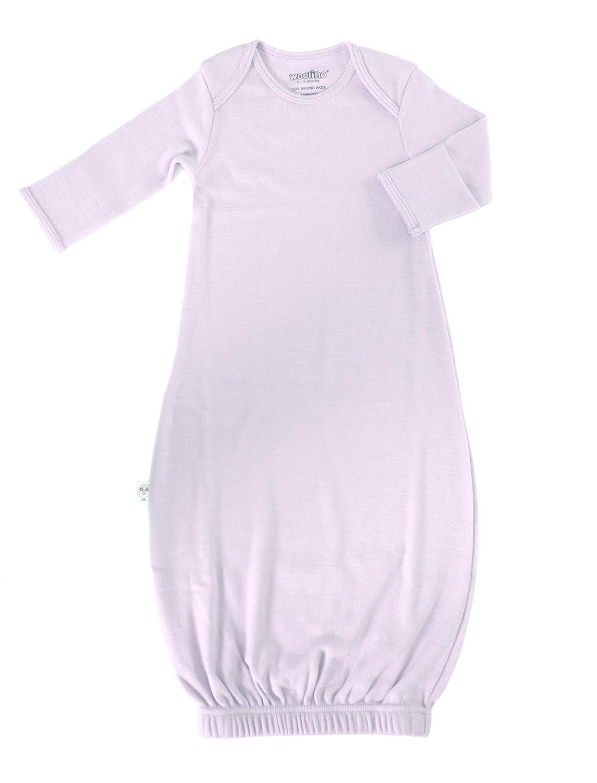Woolino Infant Gown, 100% Superfine Merino Wool, for Babies 0-6 Months Beige Gown0-6moBeige