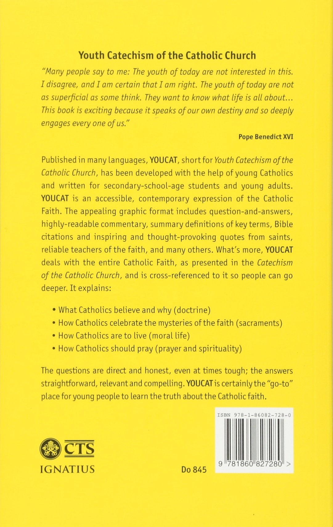 Youcat English Youth Catechism of the Catholic Church: YOUCAT Foundation  (author): 9781860827280: Amazon.com: Books