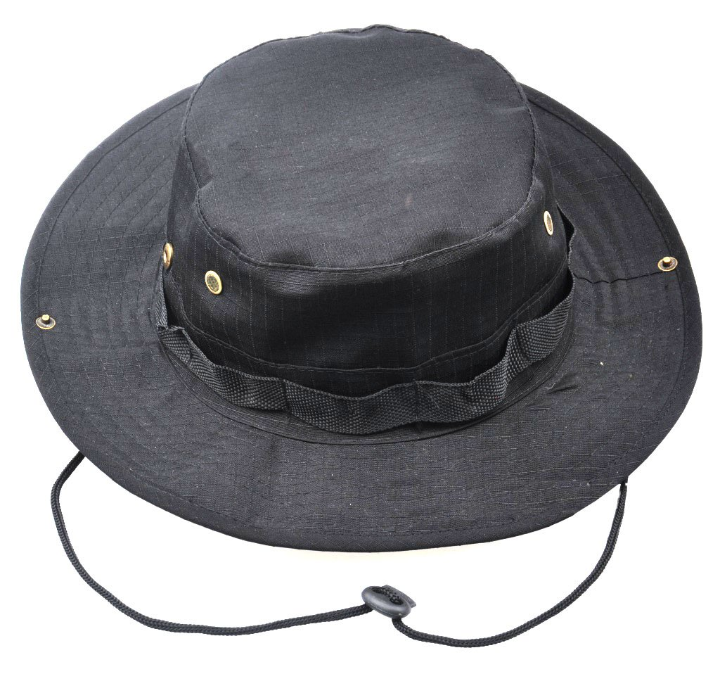 79ddfa8a250 JITTY Wide Brim Military Bucket Boonie Sun Hat for Summer Outdoor Hiking  Fishing Gardening Hunting Camping