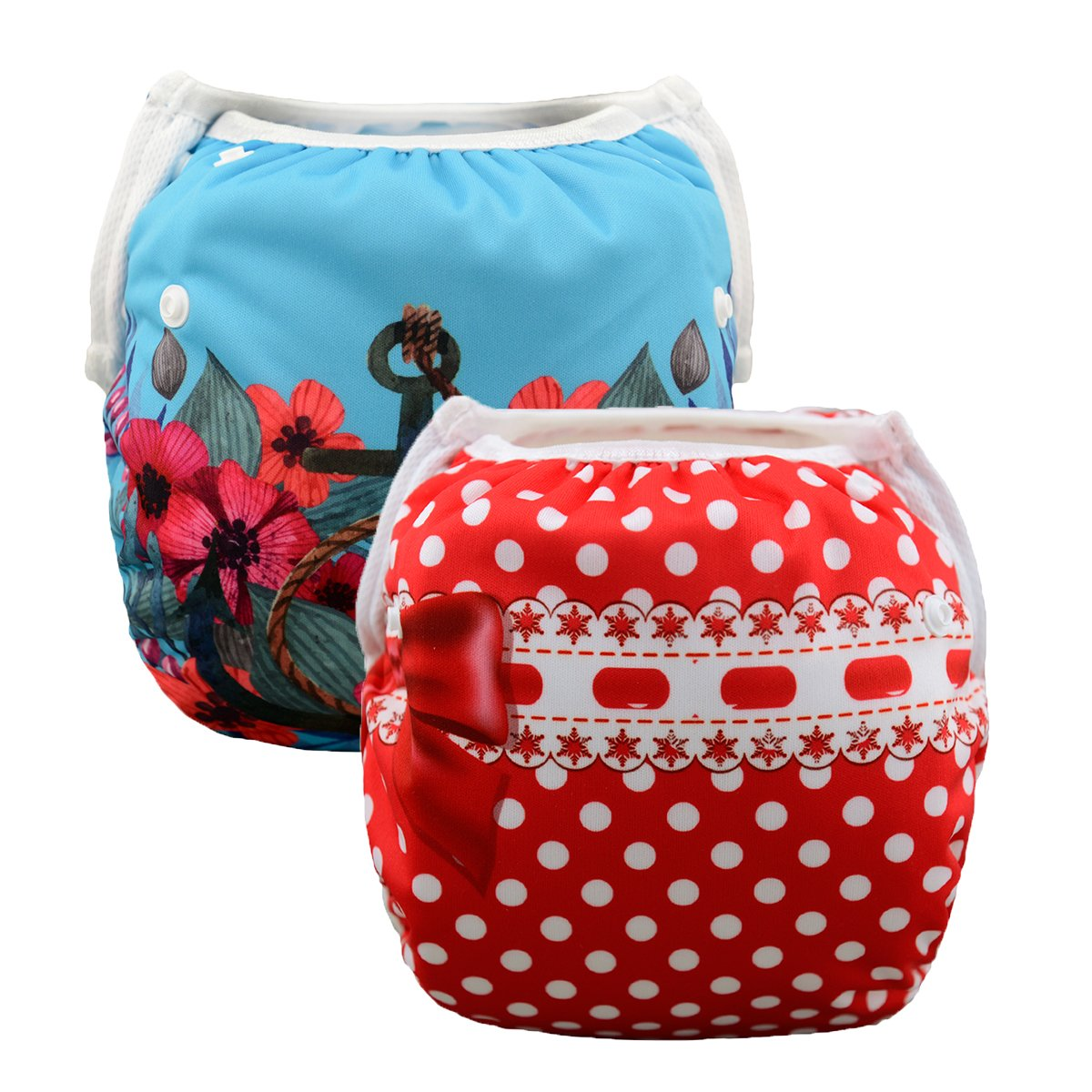 babygoal Baby Reusable Swim Diapers Adjustable for 0-2 Year Baby Boy and Girls Shower Gift Huapin