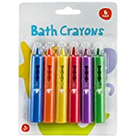 Sabar Baby Bath Crayons Non Toxic Education Fun Toy Easy Washable Wipe Clean Develop Creativity And Imagination Ages 3 Years + , Pack Of 6