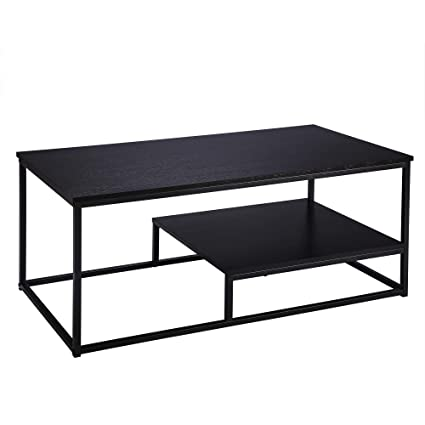 Pleasing Amazon Com Fivegiven Modern Coffee Table With Storage Shelf Gamerscity Chair Design For Home Gamerscityorg