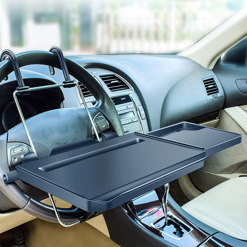Younicer Multifunktionale Lenkrad Tisch Klapp Auto Computer Laptop Tablet Schreibtisch Halterung Ständer Auto Rücksitz Tragbare Pc Tablett Tisch Auto Essen Trinken Tisch Getränkehalter Schwarz Auto