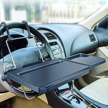 HIMACar Multifunktion Auto Esstisch Lenkradablage Laptophalter Auto Klapptisch F/ür Auto Kann Am Autolenkrad Und an Der R/ückenlehne Montiert Werden
