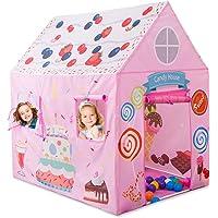 Anyshock Kids Play Tent Princess Playhouse Castle Birthday Cake Tent for Girls
