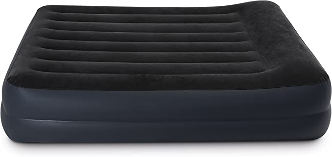 Intex Dura-Beam Standard Series Pillow Rest Raised Airbed w/Built-in Pillow & Electric Pump