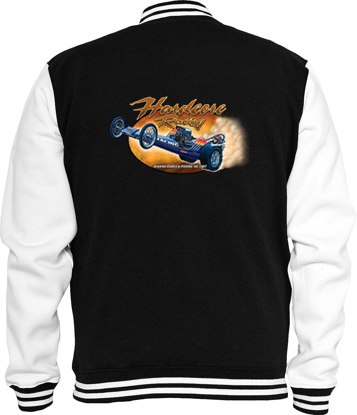 Hot Rod Pullover Racing Motors USA Rockabilly US Custom V8 Dragster